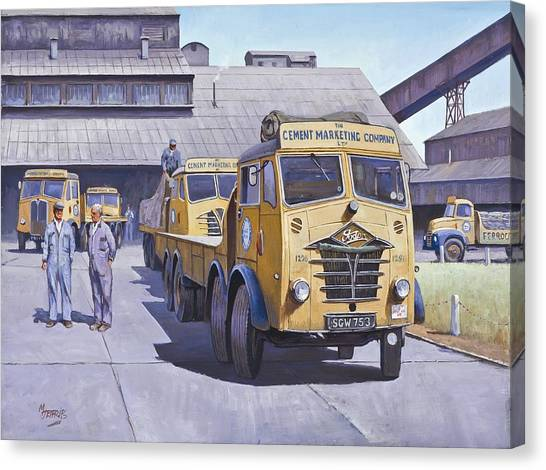 Factories Canvas Print - Blue Circle Fodens by Mike Jeffries