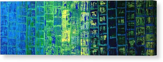 Blue City Canvas Print