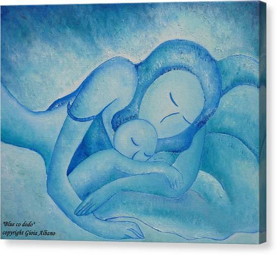 Blue Co Sleeping Canvas Print