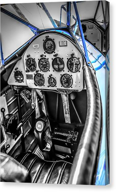 Blue Cockpit Canvas Print