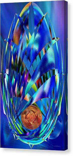 Blue Cosmic Egg - Abstract Canvas Print