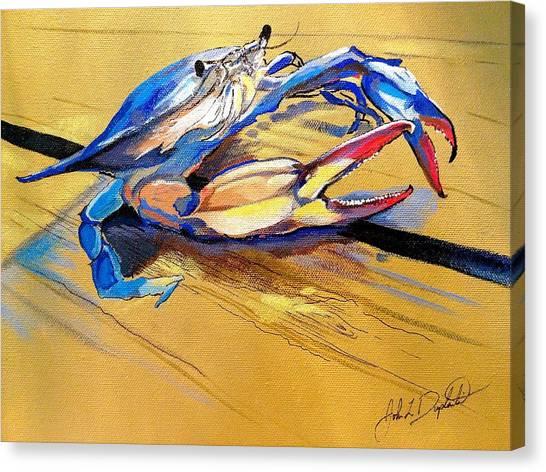 Blue Crabbie  Canvas Print