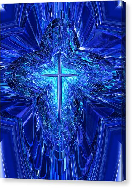 Blue Cross Canvas Print