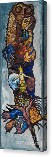 Blue Crow Feather- Crow Series Canvas Print
