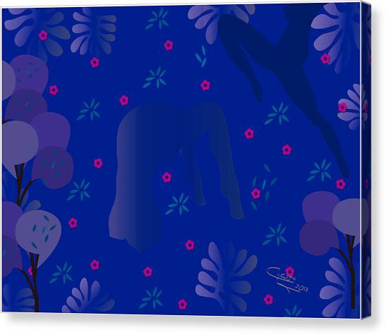 Blue Dance - Limited Edition  Of 30 Canvas Print