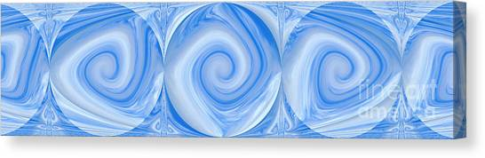 Blue Design Canvas Print