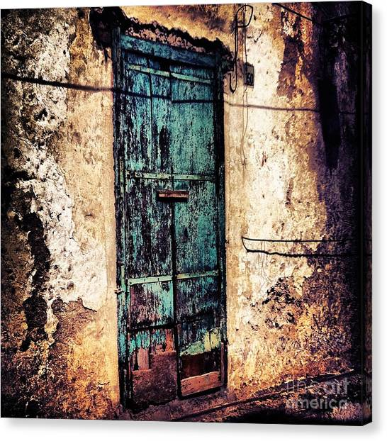 Blue Door Canvas Print by H Hoffman