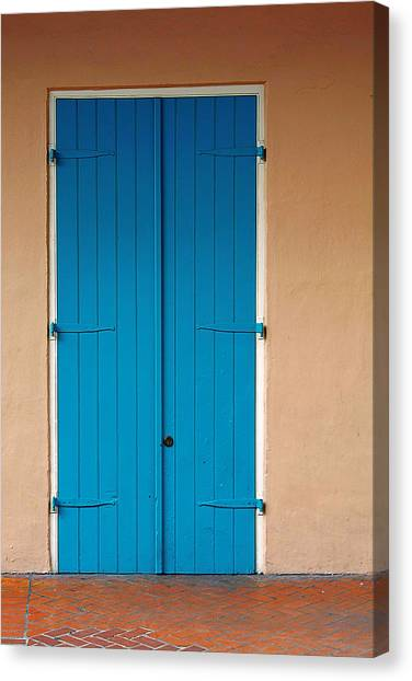 Blue Doors Canvas Print - Blue Door In New Orleans by Christine Till