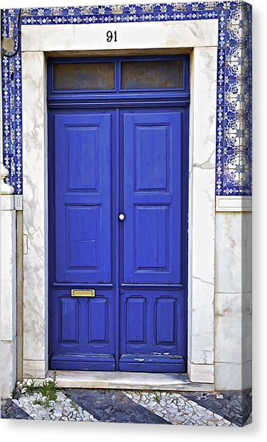 Blue Door Of Estremoz  Canvas Print