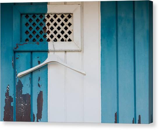 Blue Dressed Beach Canvas Print