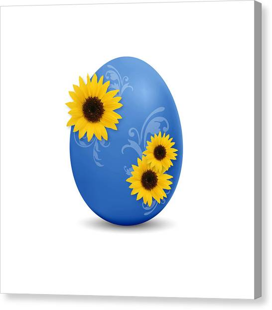 Easter Eggs Canvas Print - Blue Easter Egg by Aged Pixel
