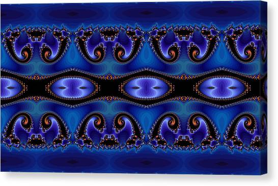 Blue Energy Abstract Canvas Print by Sabre Tooth