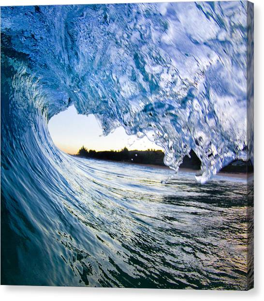 Blue Envelope  -  Part 2 Of 3 Canvas Print