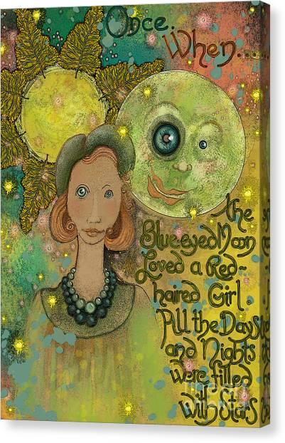 Blue-eyed Moon Canvas Print