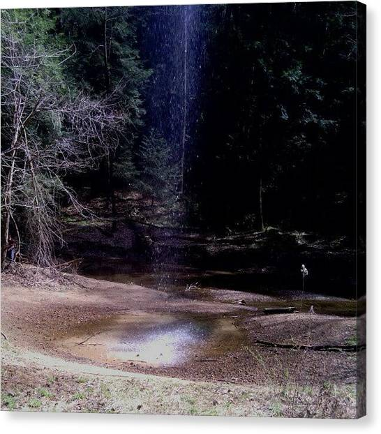 Waterfalls Canvas Print - Blue Fall #nofilter #nature #cool by Keith Jones