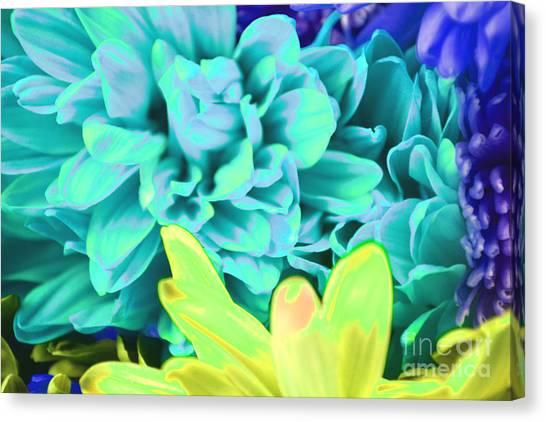 Blue Flower Canvas Print by LLaura Burge