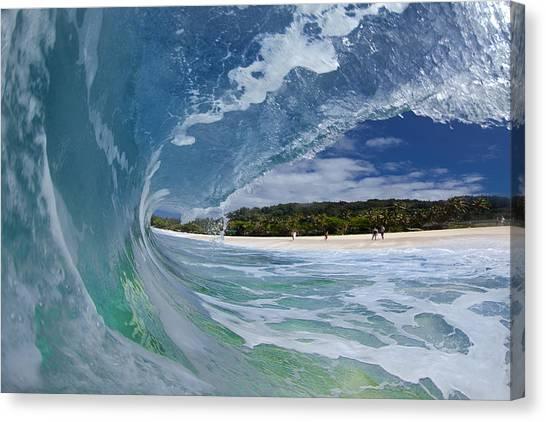 Water Canvas Print - Blue Foam by Sean Davey