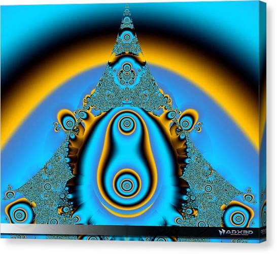 Blue Fractal 01 Canvas Print