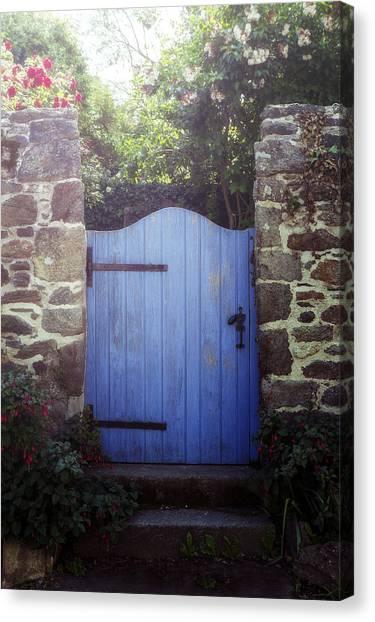 Gates Canvas Print - Blue Gate by Joana Kruse