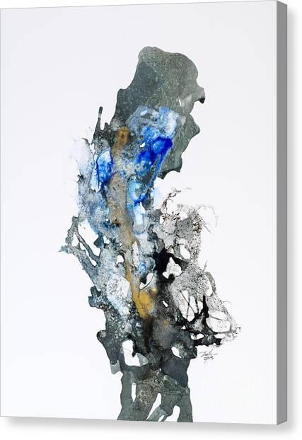 Blue-gold 04 Canvas Print by David W Coffin