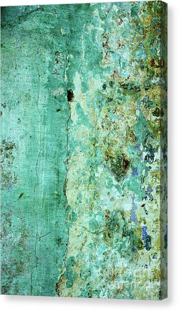 Blue Green Wall Canvas Print