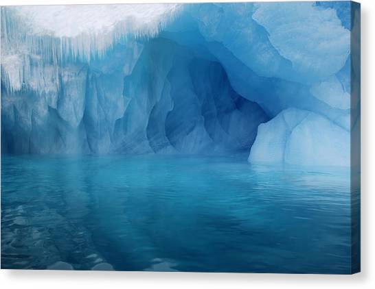 Blue Grotto Canvas Print