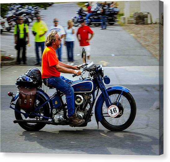 Blue Harley 46 Canvas Print
