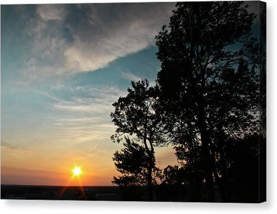 Blue Heaven Sunset Canvas Print