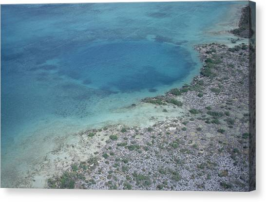Underwater Caves Canvas Print - Blue Hole by Carleton Ray