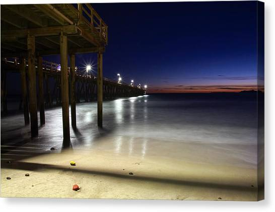 Blue Hour At Port Hueneme Pier Canvas Print