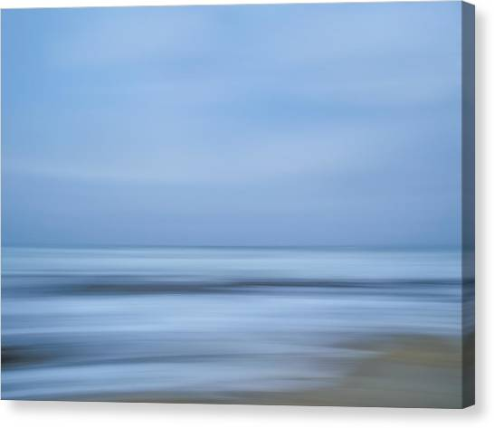 Blue Hour Beach Abstract Canvas Print