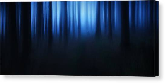 Panorama Canvas Print - Blue Hour by Burger Jochen