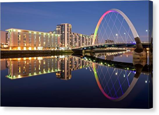 Blue Hour In Glasgow Canvas Print