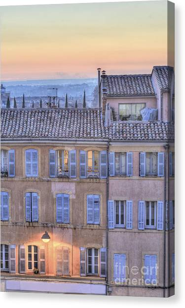Blue Hour In Provence Canvas Print