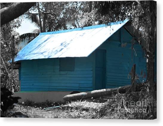 Blue House  Canvas Print by Bobby Mandal