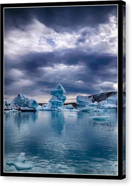 Blue Ice 2 Canvas Print