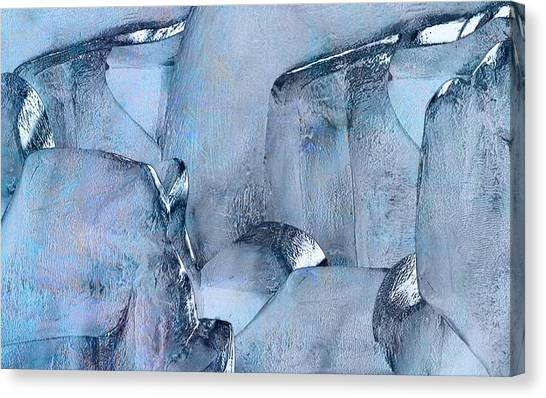 Sculptors Canvas Print - Blue Ice by Jack Zulli