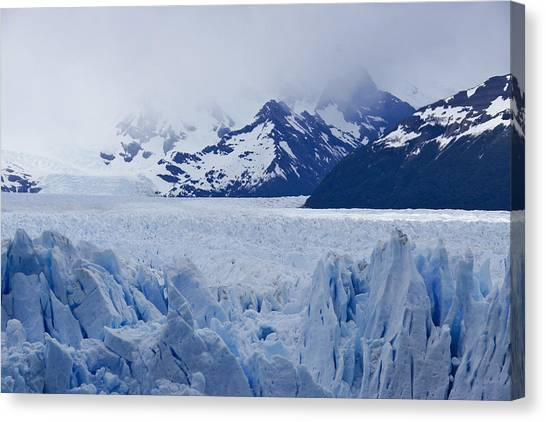 Perito Moreno Glacier Canvas Print - Blue Ice by Michele Burgess