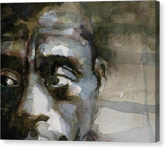 Celebrity Canvas Print - Blue In Green  Miles Davis by Paul Lovering