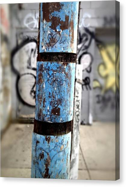 Graffiti Canvas Print - Blue Interrupted by Kreddible Trout