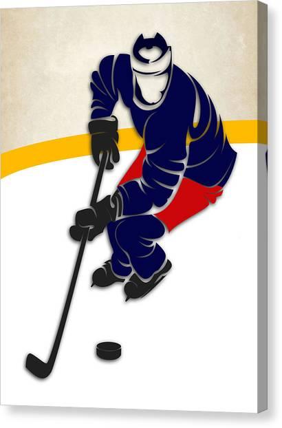 Columbus Blue Jackets Canvas Print - Blue Jackets Hockey Rink by Joe Hamilton