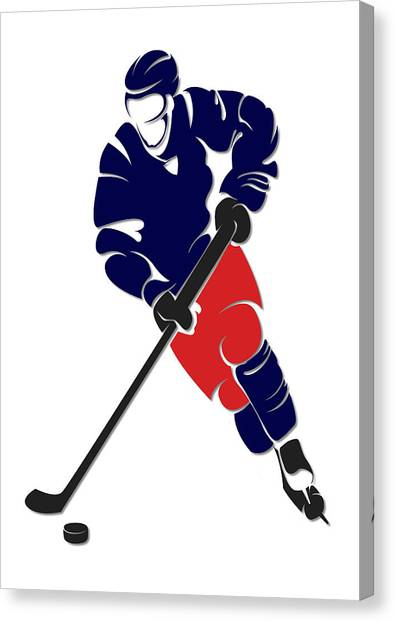 Columbus Blue Jackets Canvas Print - Blue Jackets Shadow Player by Joe Hamilton