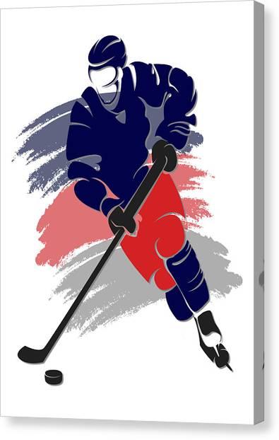 Columbus Blue Jackets Canvas Print - Blue Jackets Shadow Player2 by Joe Hamilton