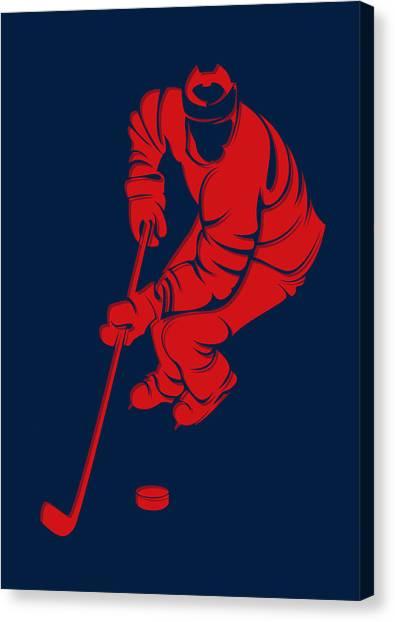 Columbus Blue Jackets Canvas Print - Blue Jackets Shadow Player3 by Joe Hamilton