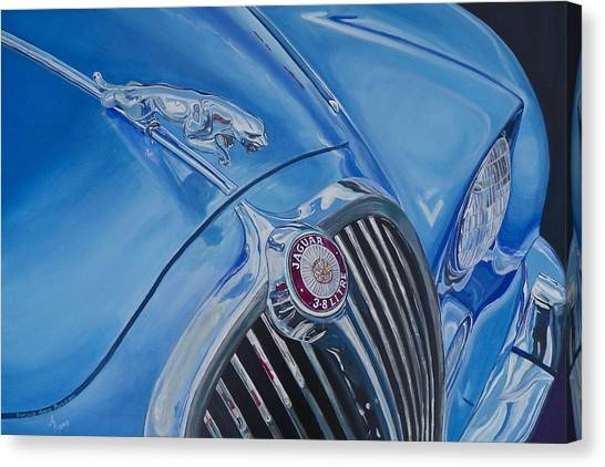 Vintage Blue Jag Canvas Print