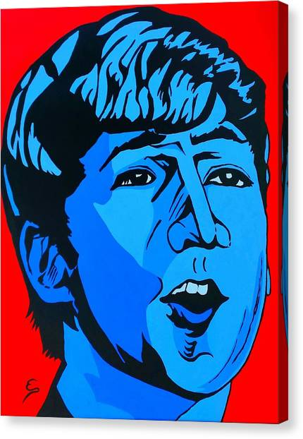 Blue  John Lennon Canvas Print