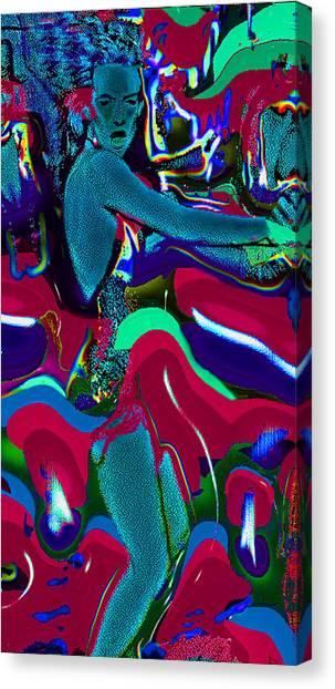 Blue La-rue Dancing Canvas Print