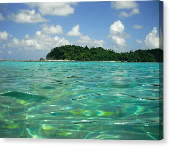 Rio Grande River Canvas Print - Blue Lagoon by Carey Chen