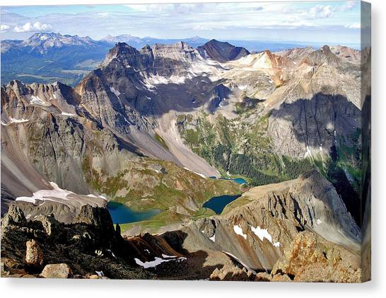 Blue Lakes Beauty Canvas Print