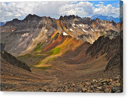 Blue Lakes Pass Canvas Print